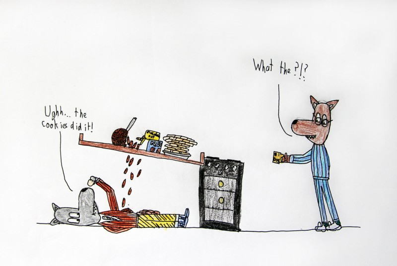 Lazy Wolf's Cookie Trouble