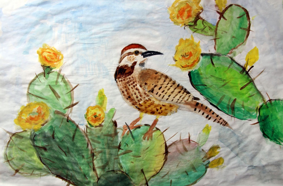 Bird and Cactus